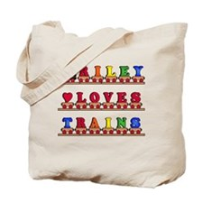 Riley Loves Trains Tote Bag