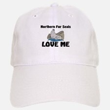 Northern Fur Seals Love Me Baseball Baseball Cap