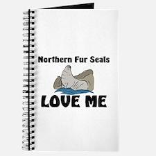 Northern Fur Seals Love Me Journal