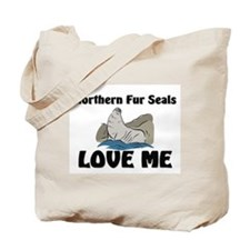 Northern Fur Seals Love Me Tote Bag