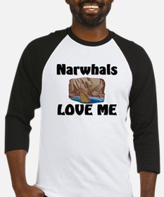 Narwhals Love Me Baseball Jersey