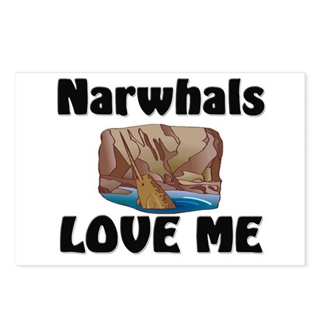 Narwhals Love Me Postcards (Package of 8)