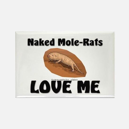 Naked Mole-Rats Love Me Rectangle Magnet