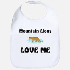 Mountain Lions Love Me Bib