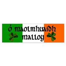 Malloy in Irish & English Bumper Bumper Sticker