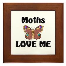 Moths Love Me Framed Tile