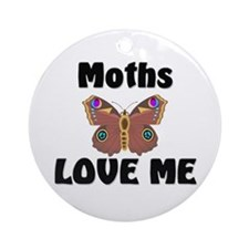 Moths Love Me Ornament (Round)