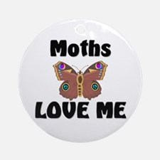 Moths Love Me Ornament (Round)