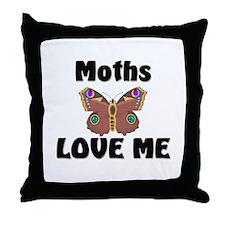 Moths Love Me Throw Pillow