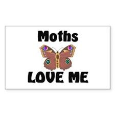Moths Love Me Rectangle Decal