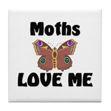 Moths Love Me Tile Coaster