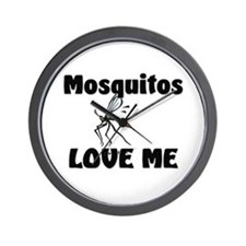 Mosquitos Love Me Wall Clock