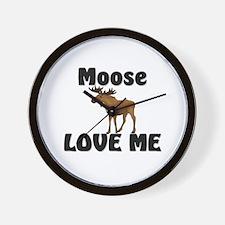 Moose Love Me Wall Clock