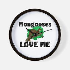 Mongooses Love Me Wall Clock