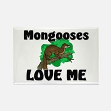 Mongooses Love Me Rectangle Magnet