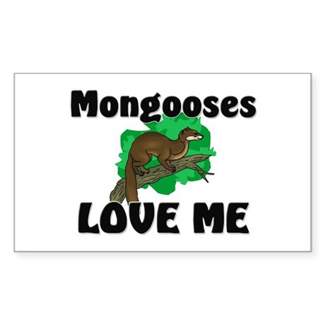 Mongooses Love Me Rectangle Sticker