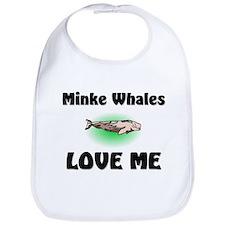 Minke Whales Love Me Bib