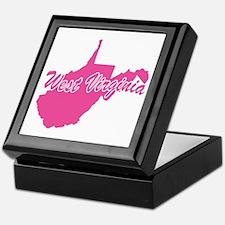 Pink West Virginia Keepsake Box