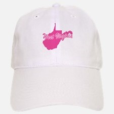 Pink West Virginia Baseball Baseball Cap