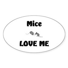 Mice Love Me Oval Decal