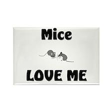 Mice Love Me Rectangle Magnet