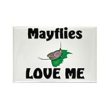 Mayflies Love Me Rectangle Magnet