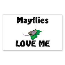 Mayflies Love Me Rectangle Sticker
