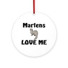 Martens Love Me Ornament (Round)