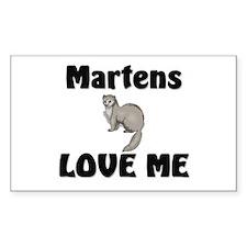 Martens Love Me Rectangle Sticker