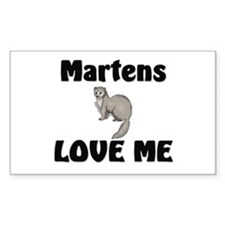Martens Love Me Rectangle Decal