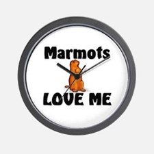 Marmots Love Me Wall Clock