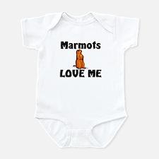 Marmots Love Me Infant Bodysuit