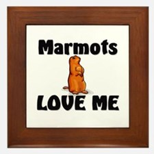 Marmots Love Me Framed Tile