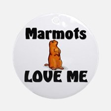 Marmots Love Me Ornament (Round)