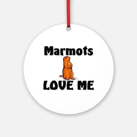 Marmots Love Me Ornament (Round)