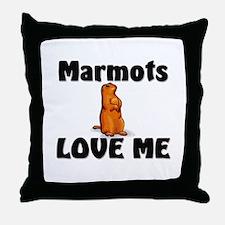 Marmots Love Me Throw Pillow