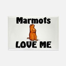 Marmots Love Me Rectangle Magnet
