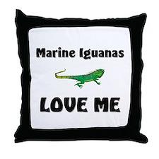 Marine Iguanas Love Me Throw Pillow