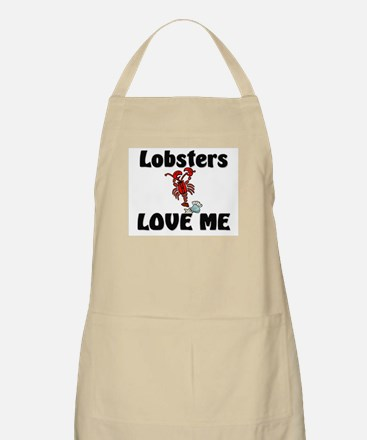 Lobsters Love Me BBQ Apron