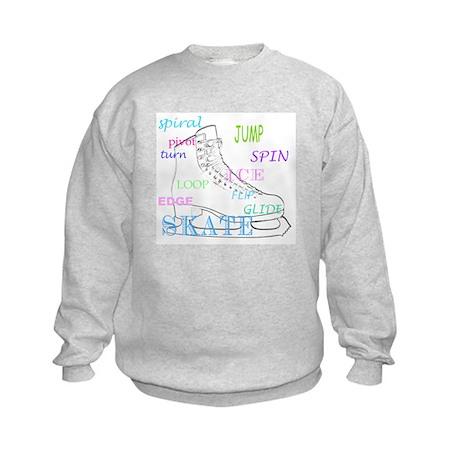 Figure Skating Kids Sweatshirt