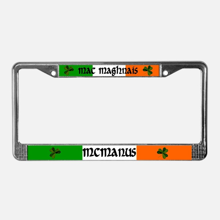 McManus in Irish & English License Plate Frame