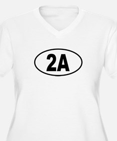 2A Womes Plus-Size V-Neck T-Shirt