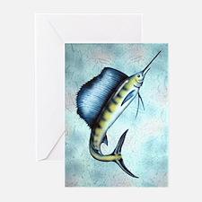 Sail fish Greeting Cards (Pk of 10)