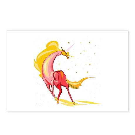 Yellow & Orange Unicorn Postcards (Package of 8)