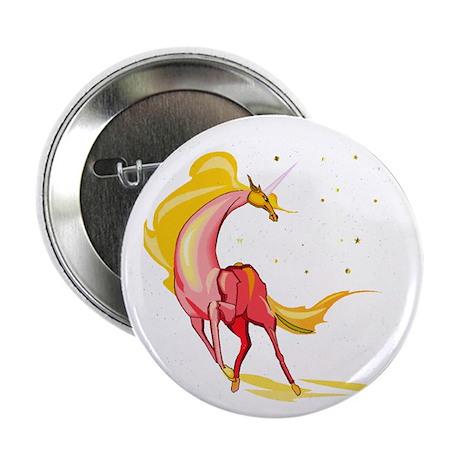 "Yellow & Orange Unicorn 2.25"" Button (10 pack)"