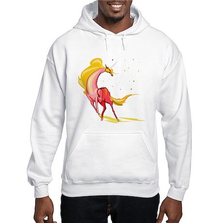 Yellow & Orange Unicorn Hooded Sweatshirt