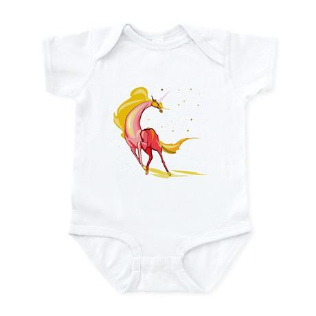 Yellow & Orange Unicorn Infant Creeper
