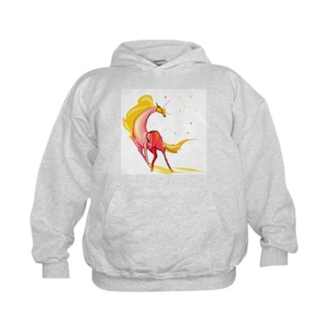Yellow & Orange Unicorn Kids Hoodie