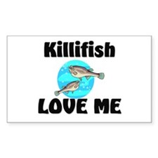 Killifish Love Me Rectangle Decal