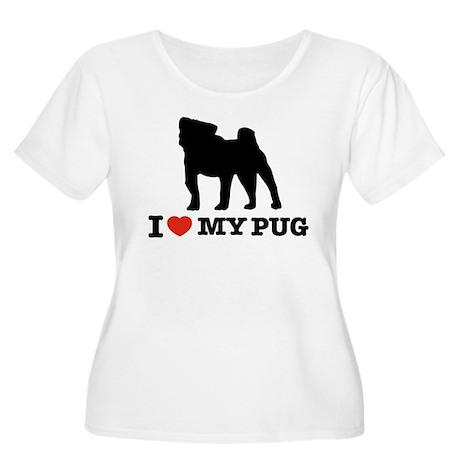 I love my Pug Women's Plus Size Scoop Neck T-Shirt